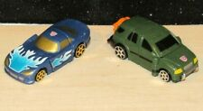 "Lot of 2 Vintage 2001 Transformers Cars  Spy Changers Hasbro Takara 3"""