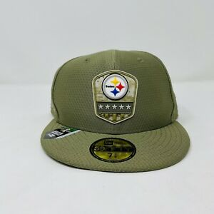 New Era 59Fifty Pittsburgh Steelers Salute to Service Cap Hat Size 7 1/2-59.6 cm