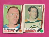 1969-70 OPC BRUNS WESTFALL + BLUES RED BERENSON  CARD (INV# C4221)