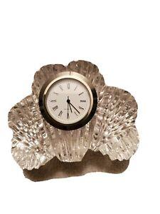 crystal quartz clock paper weight..