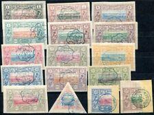 COTE SOMALI 1894 Yvert 6-19 gestempelt +13a,15a auf BRIEFSTÜCK 800€(S8586