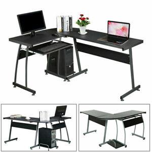 L-Shape Corner Computer Office Desk PC Laptop Table Workstation Home Office Game