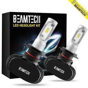 Fanless H7 50W 7200LM LED Headlight Bulbs CSP Kit High/Low Beams 6500K White US