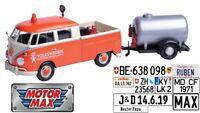 """VW T1 Doka """"Road Service"""", mit Tank-Anhänger -1:24 MotorMax  >NEW<"""