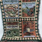 Crown Crafts Baseball Tapestry Throw Blanket  History America's Sport Made USA