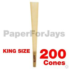 Raw Classic King Size Pre Rolled W Tip Cones (200 Packs) AUTHENTICFree Shipping