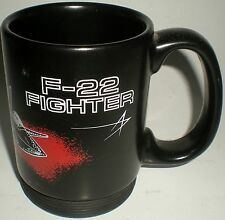 BEER DRINKING CERAMIC MUG STINE F22 FIGHTER JET BLACK