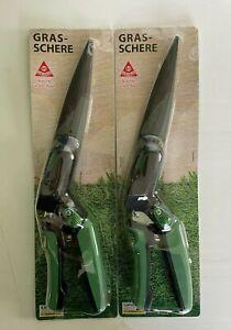 2 X Grasschere Rasenkantenschere Rasenschere  Antihaft-Beschichtung (Ilaflon)