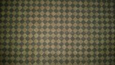 LINED VALANCE 42X16 CHOCOLATE BROWN HARLEQUIN DIAMOND CHECKERED PATTERN