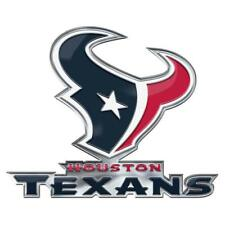 Houston Texans Die-Cut Alternate Metal Auto Emblem [NEW] Car Decal Sticker