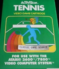 Tennis  game with creased box  for Atari 2600 PAL NEW