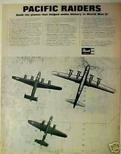 1965 Revell WWII Aircraft/Airplane Pacific Raiders US Navy PB4Y-1 Model Toy AD