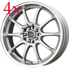Drag Wheels DR9 17x7 5x100 5x114 +40 Rims For Nissan 240Sx 280ZX Versa G20 M30