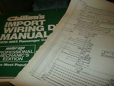 1982 1983 nissan sentra wiring diagrams schematics manual sheets set