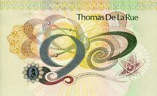 United Kingdom Thomas De La Rue Large Trial Test Note 231b Banknote Money