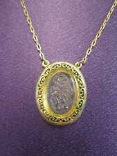 Glass Flower Pendant W/ Gold Tones Necklace from 1928 Jewelry Co
