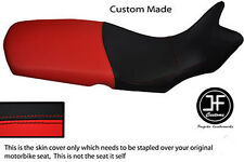 RED AND BLACK AUTOMOTIVE VINYL CUSTOM FITS BMW F 650 GS 08-12 SEAT COVER ONLY