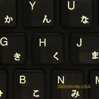 Japanese Keyboard Stickers letters laptop desktop Letters, no reflection-WHITE