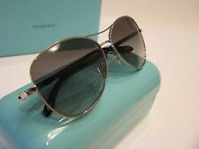 NEW  AUTHENTIC TIFFANY & CO. Era Aviator Sunglasses TF 3041-B 6001 / 3C Silver