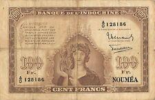 New Caledonia  100 Francs  ND. 1942  Series  A/O  Circulated Banknote MeCV