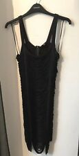 Topshop Ladies (Women's) Black Bodycon Tassel Dress Size 6