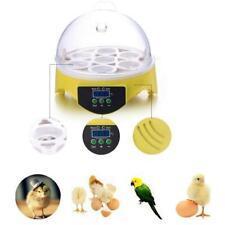 New Superior Digital 7 Egg Mini Incubator Chicken Duck Bird Hatcher Built-in Fan