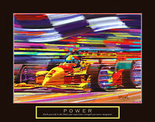 Power Formula 1 Auto Racing Motivational Poster Print