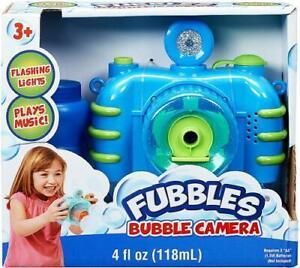 NEW Fubbles Bubble Camera w/ Shutter Sound, Fun Lights & Music, Blue