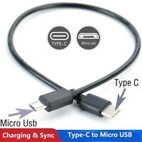 New Type C USB-C to Micro B USB Male Sync Charging Cord OTG Charge Cable Adapter
