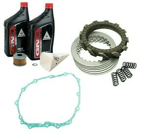 Tusk Clutch Kit Hd Springs W/Cover Gasket & Oil Change Honda Trx 400Ex 1999-2004