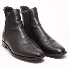 Alfred Sargent Chelsea Boots - Black Pebble Grain - Patina - Size 10D
