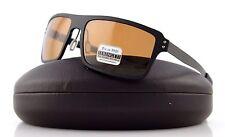 POLARIZED NEW Authentic SERENGETI DUCCIO Satin Black PHD Drivers Sunglasses 7812