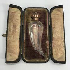 Antique 9ct Gold Scent Bottle Circa 1890 Possible Elkington Cased