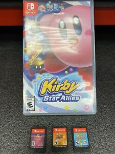 Nintendo Switch Game Lot of 4 Games Kirby Star Allies, Yoshi's + more No Reserve