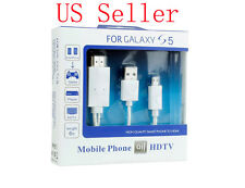 Micro USB To HDMI 1080P HD TV White Cable For SAMSUNG GALAXY S5 SM-G900F