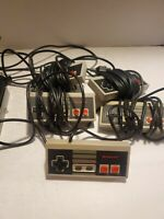 Lot Of 5 NES Controllers (3 Authentic NES-004, 2 Unbranded) *Tested*