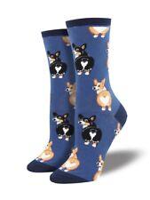 Blue Corgi Dog Socks Ladies Girls Corgis Dogs Dog Gift Socksmith Christmas Gift