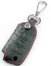 Remote Leather Key Cover Case For VW Polo Bora GTI Jetta Golf Passat Tiguan K