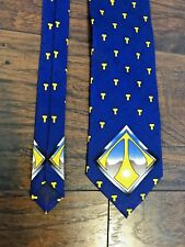 Limited Edition Wear Tie Custom Blue Yellow T Initial Taylorsville H.S. Silk