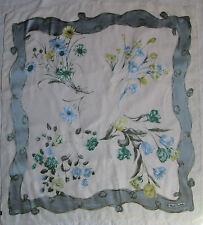 -Authentique Foulard en mousseline  RENATO BALESTRA   soie  TBEG  vintage scarf