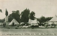 SAN FRANCISCO CA – Refugees Camping in Golden Gate Park - udb (pre 1908)