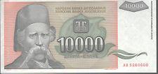 Yugoslavia 10,000 Dinara. 1993 P129 Mint Unc