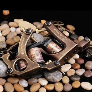 TOP PRO LEVEL Compass Brass Tattoo Machine 2 gun Straight Shader Circle Liner