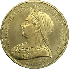 GREAT BRITAIN 5 POUNDS 1893 VICTORIA 3RD PORTRAIT BRAND NEW GOLDEN COIN UK