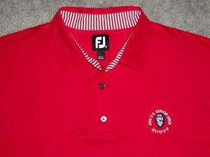Men's NWOT FOOTJOY Golf Polo XL RED w/FJ w/Golf Logo ~ Poly/Spandex