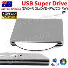 Air Pro USB Slot Loading CD-RW/DVD Slim External Drive for MAC Window8.1 AU
