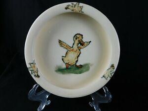 Vintage Weller Ware Child's Dish Bowl w Zona Duck, Great Condition! w Provenance