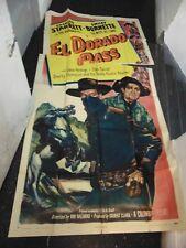 Charles Starrett El Dorado Pass Original 3-Sheet Movie Poster #N1337
