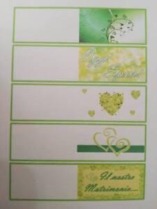 60 biglietti per bomboniere battesimo nascita matrimonio compleanno party verde