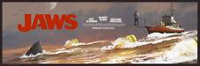 "Jc Richard Fine Art Print Amity '74 ""The Chase"" Jaws Movie Poster"